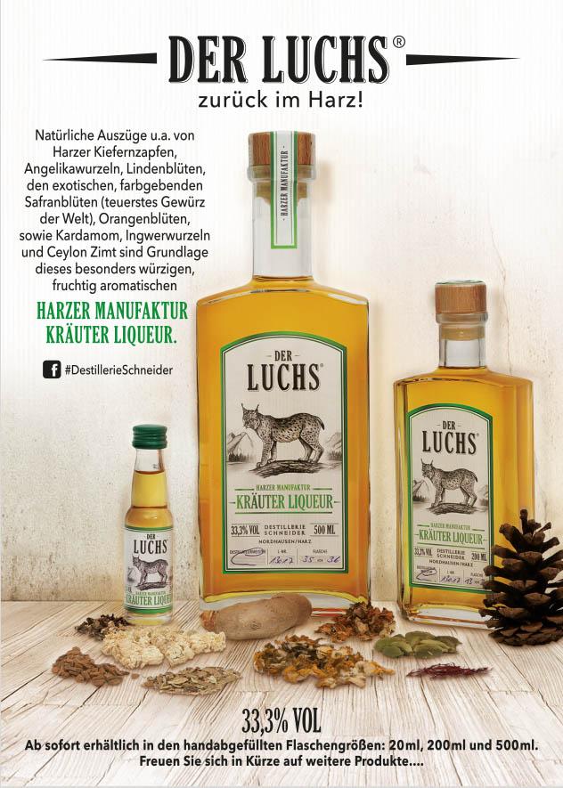 DER LUCHS - HARZER MANUFAKTUR KRÄUTER LIQUEUR