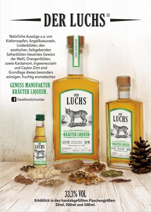 DER LUCHS - GENUSS MANUFAKTUR KRÄUTER LIQUEUR